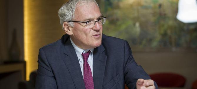 LE PDG D'EDF, JEAN-BERNARD LEVY, RENCONTRE